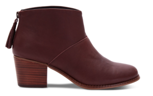 OXBLOOD FULL GRAIN LEATHER WOMEN'S LEILA BOOTIES
