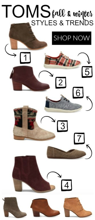 Toms Fall and Winter Shoe Styles