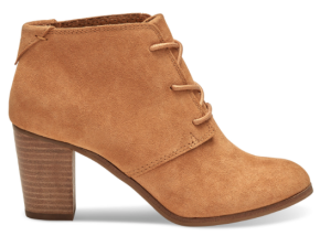WHEAT SUEDE WOMEN'S LUNATA LACE-UP BOOTIES