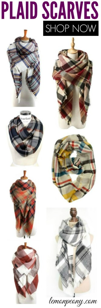 Cheap Plaid Scarves for Fall