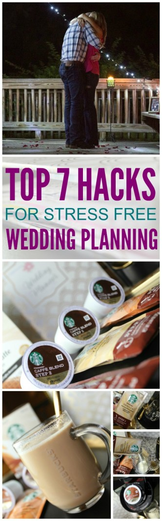 Here are the Top 7 Hacks for Simple and Stress-Free Wedding Planning! Tips and tricks for brides as they are planning their big day!