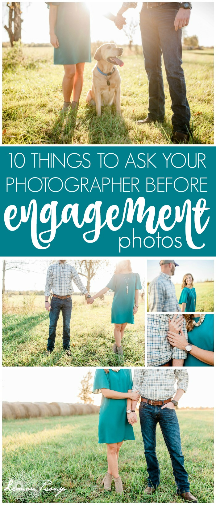 10 Things to Ask Your Photographer Before Engagement Pictures