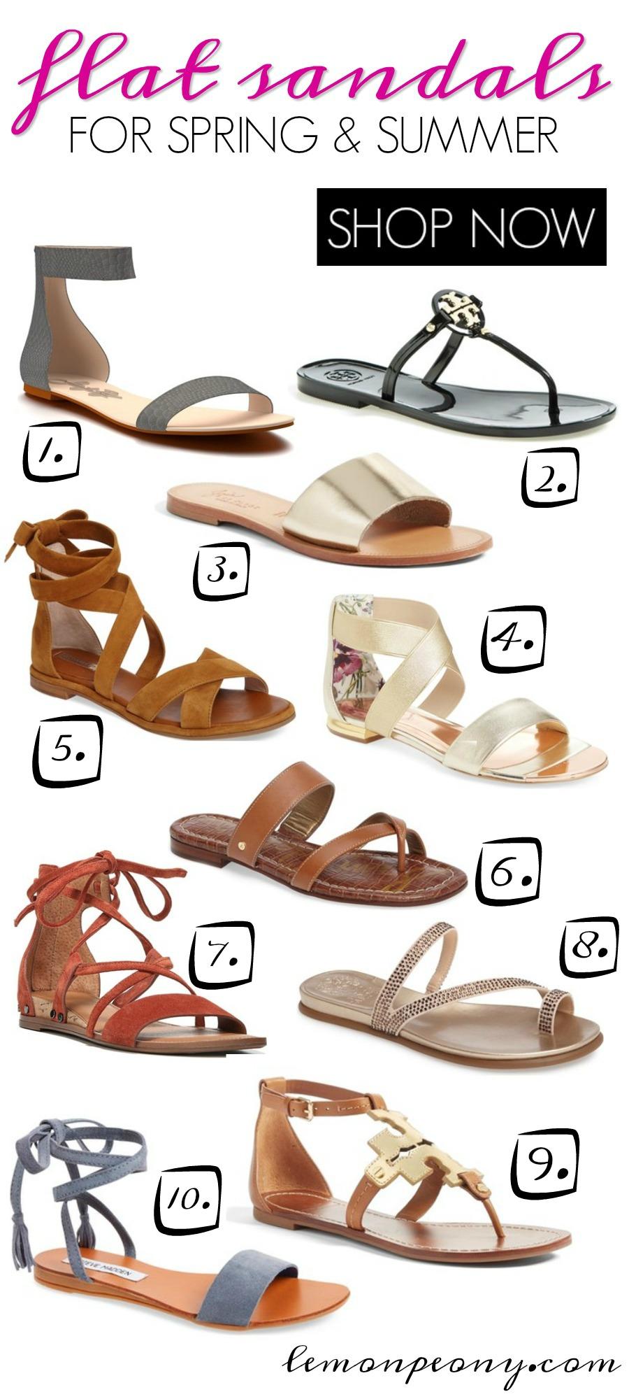 Flat Sandals for Spring & Summer