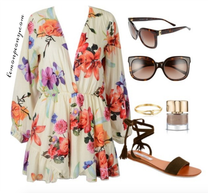Floral Romper and Accessories