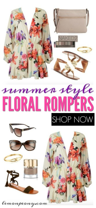 Summer Style Floral Rompers