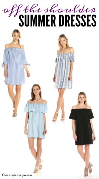 Off the Shoulder Summer Dresses