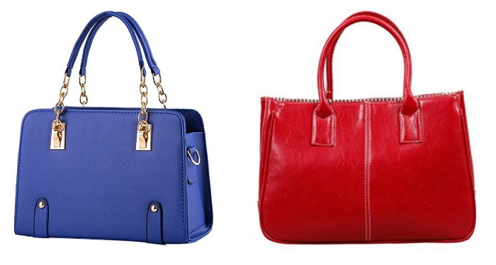 Red and Blue Purses