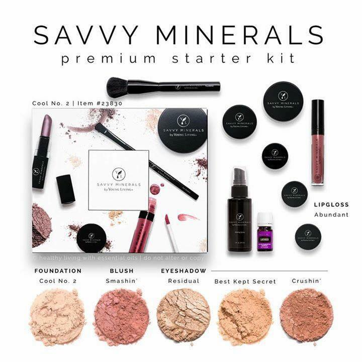 Savvy Minerals Premium Starter Kit by Young Living! Natural, Toxic Free, Chemical Free, Vegan Friendly Makeup including Foundation, Blush, and Eye Shadow!