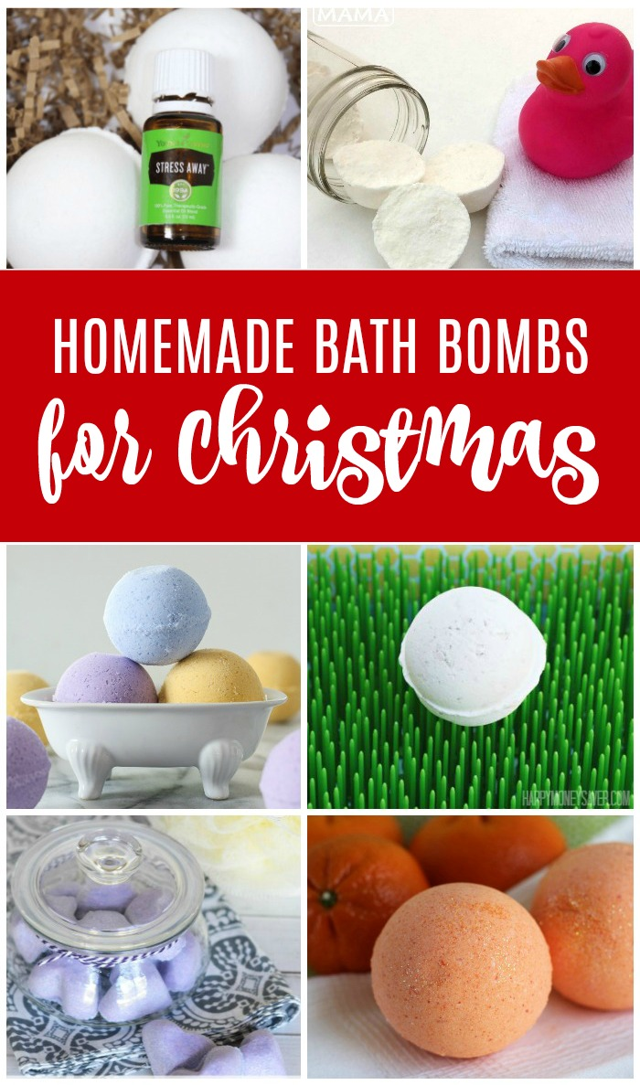 Homemade Bath Bombs for Christmas! Cheap and Easy Gift Ideas for Christmas! Perfect for friends, Neighbors, and Family!