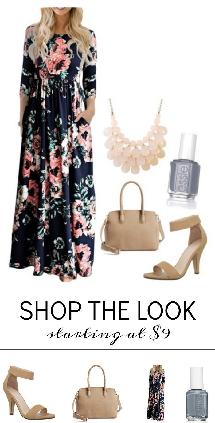 d4d262d1cb8 LOVING this Cheap Floral Easter Dress! You can grab this right now on Amazon  for