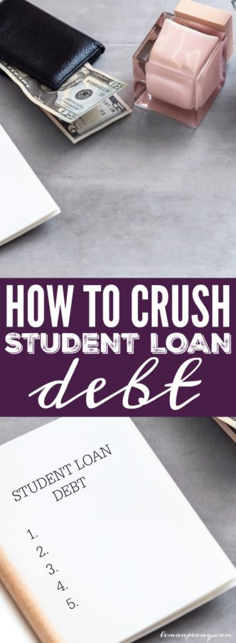 How to Crush Student Loan Debt and Pay it off Quickly! Money Saving Tips, Tricks, and Hacks for getting rid of your college debt as fast as possible.