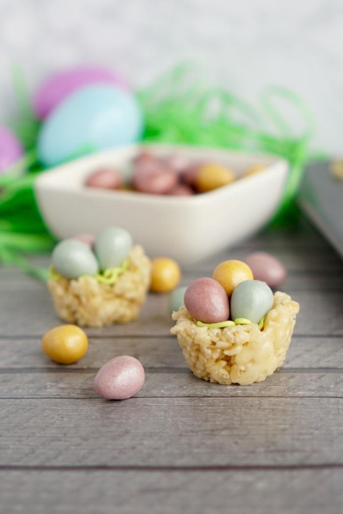 Birds Nest Rice Krispies for Easter