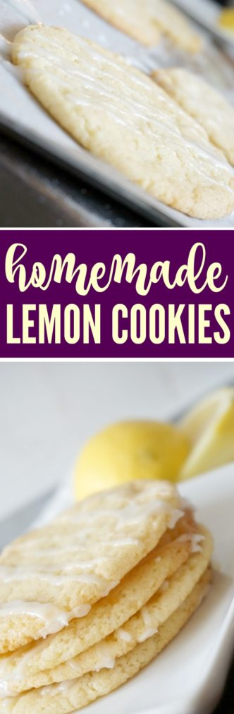 Easy Lemon Cookie Recipe! The BEST light and soft lemon cookies for spring & summer! Perfect dessert or treat for holidays, birthday parties, easter!