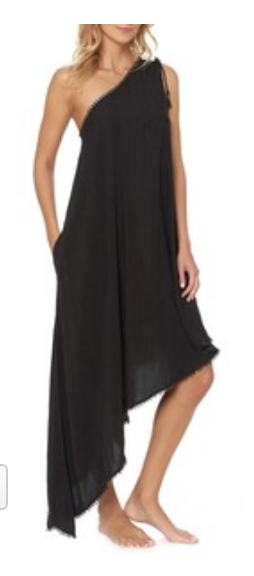 One-Shoulder Maxi Cover-Up Dress