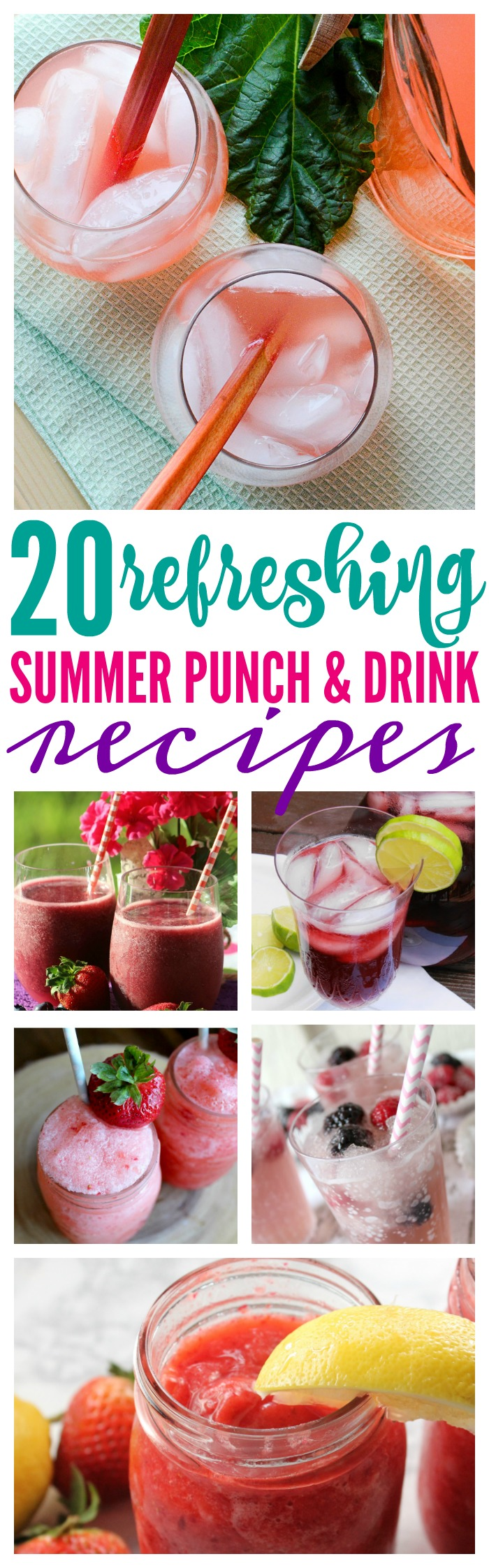 Summer Punch and Drink Recipes! Frozen Drinks, Lemonade, Non-alcoholic, kid friendly, and family favorite refreshing summer drinks that you will LOVE!