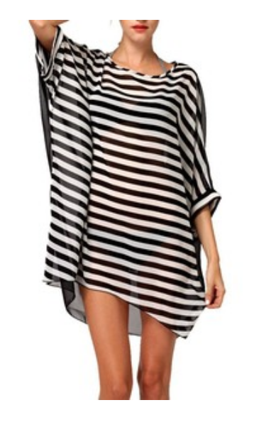 Striped Swim Coverup