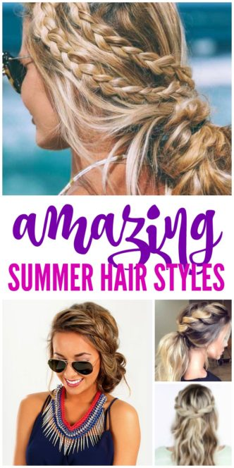 AMAZING Summer Hair Styles and Trends for Women! The best Curls, Braids, Twists, and Updos for summertime, heading to the beach, and easy everyday looks!