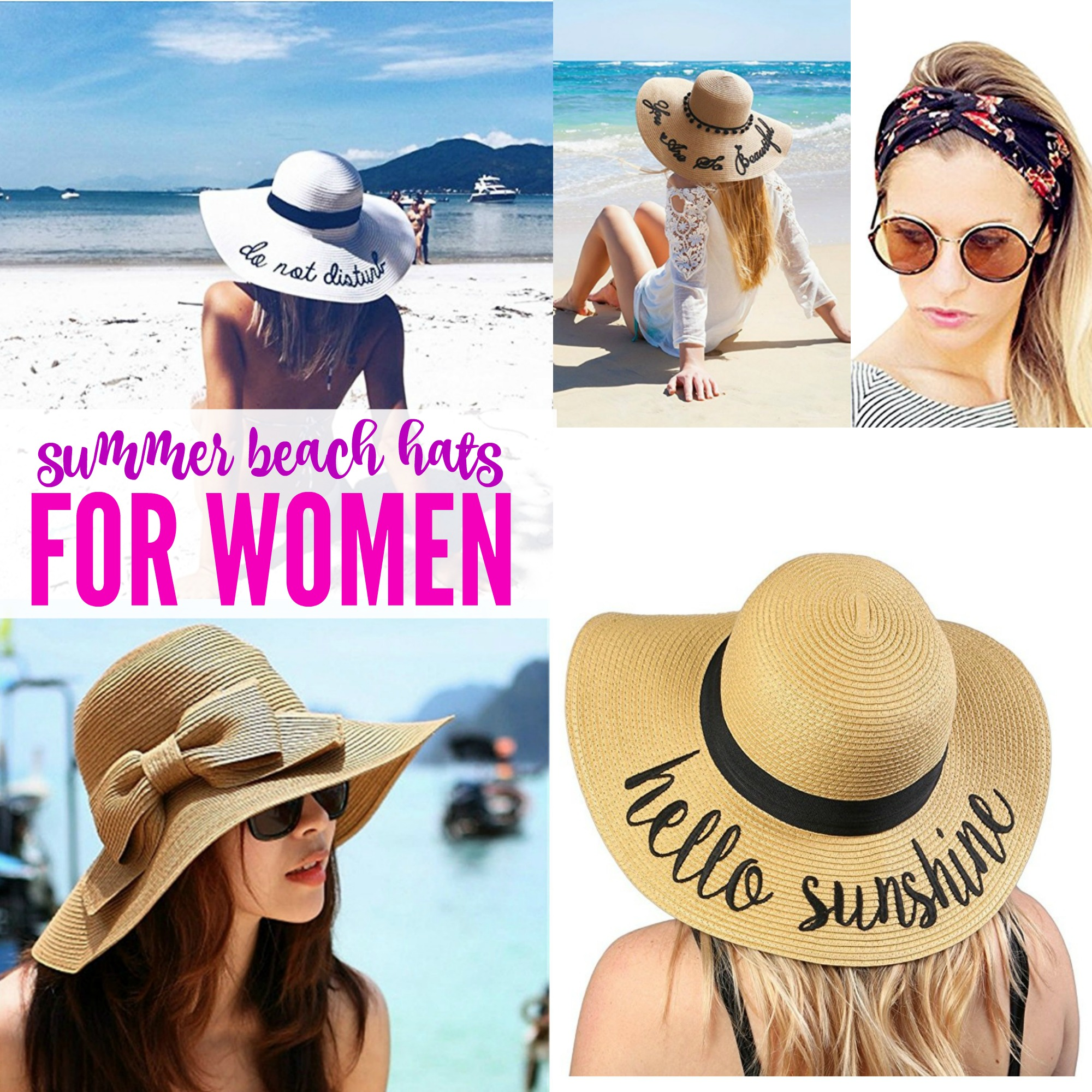 Cute Summer Sun Beach Hats