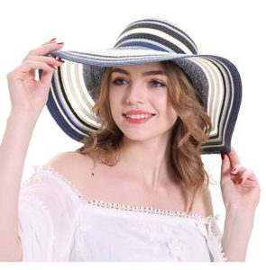 Floppy Stripes Big Brim Hat