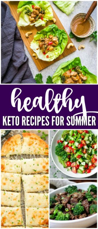 Healthy Keto Recipes for Summer! Easy Keto Dinner Recipes and the Best Meal Ideas if you and your family are trying to eat healthy and follow the Keto Diet.