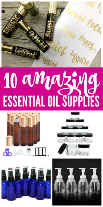 Top 10 Amazing Essential Oil Supplies You Need Now! Here are our favorite supplies and products if you love DIY and Homemade All-Natural Chemical Free Products!