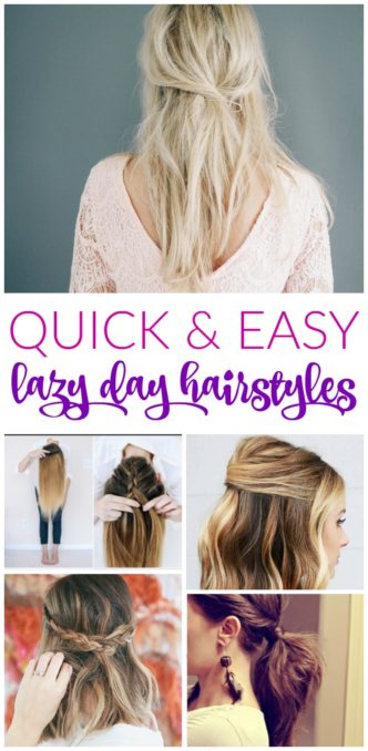Quick and Easy Lazy Day Hairstyles for Women! Simple Everyday Styles and Trends for up-dos, braids, or half up options for spring, summer, fall, or winter!