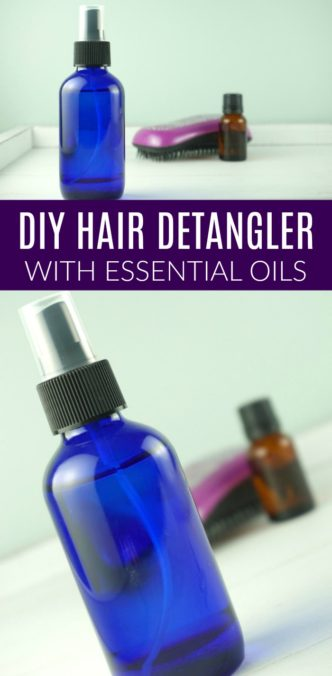 DIY Homemade Hair Detangler Recipe! A quick and easy toxic free hair product for girls and women that is chemical free and natural for summer or winter!