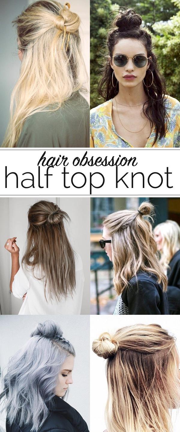 Half Up Top Knots
