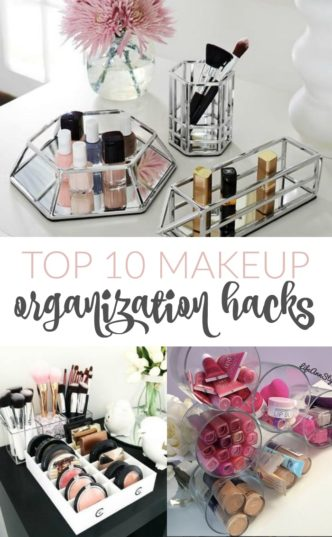 Best Makeup Organization Hacks! Top tips and tricks for cleaning out and keeping your beauty products, makeup, brushes, and supplies organized in your home!