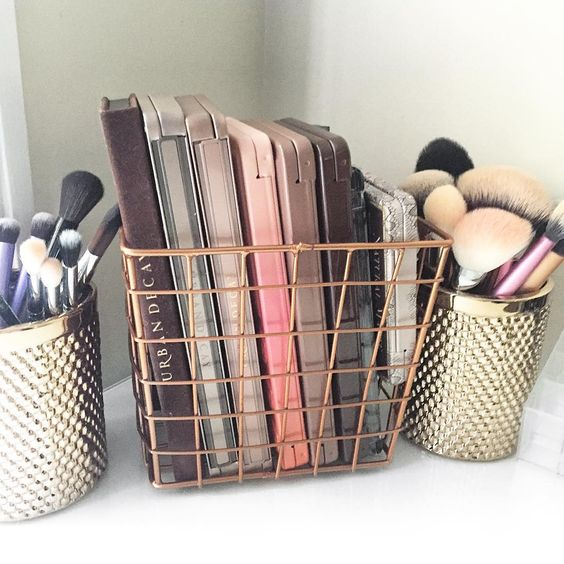 makeup-storage wire baskets