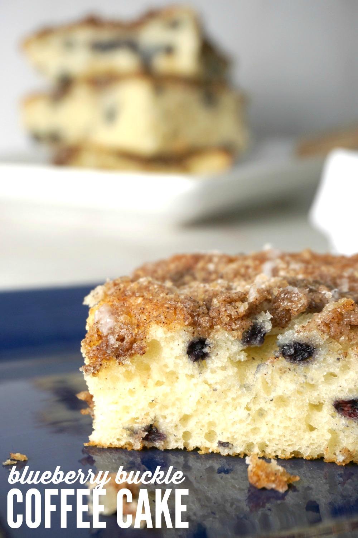 Blueberry Buckle Easy Coffee Cake Recipe
