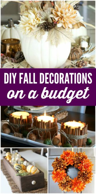 Cheap DIY Fall Decorations on a Budget! White Pumpkins, Gold Pumpkins, Candy Corn, Popcorn, Leaves, and More! Dollar Store Hacks for Thanksgiving Decor!
