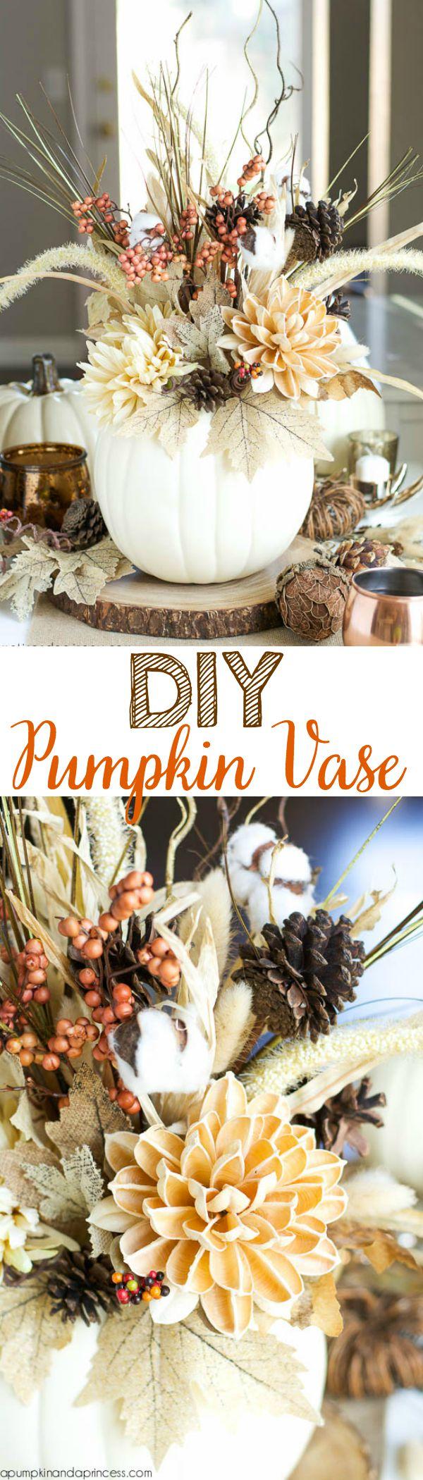 DIY Pumpkin Vase