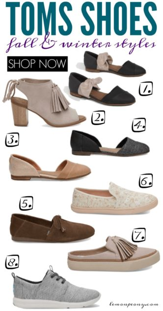 Toms Shoes Fall and Winter Styles and Trends! Everyday CUTE and Comfortable Slip-ons, Booties, Ballet Flats, Sneakers, Tassels, and Tie Shoes for Women!