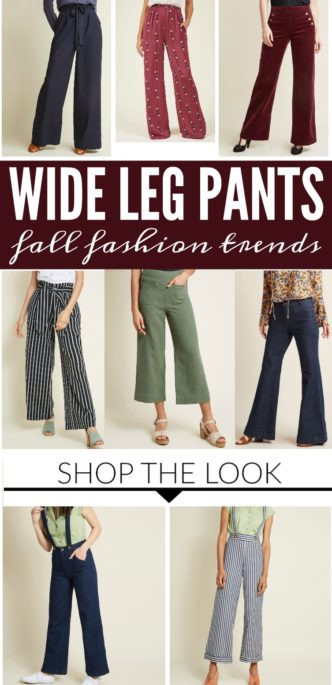 Wide-Leg Pants Fall & Winter Fashion Trends! Everyday, Adorable Women's Flashback Style with flare jeans, work pants, prints, high-waist and more at Modcloth!