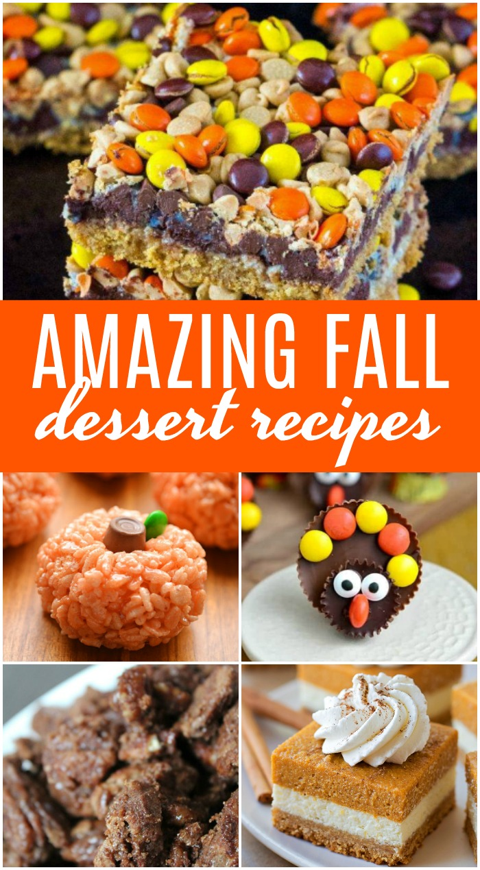 Amazing Fall Dessert Recipes! Easy Holiday Treats and Desserts for a Crowd including Cute Ideas with Pumpkin, Pies, Chocolate, and Cheesecake!