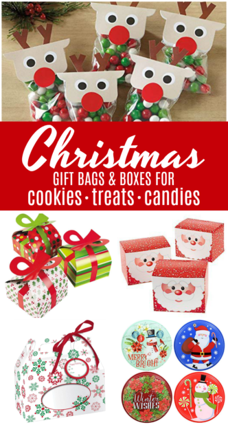 Cheap Christmas Gift Treat Bags and Boxes! Perfect for Easy DIY Christmas Gift Ideas, Candies, Cookies, and Treats for Friends, Neighbors, and Co-Workers!
