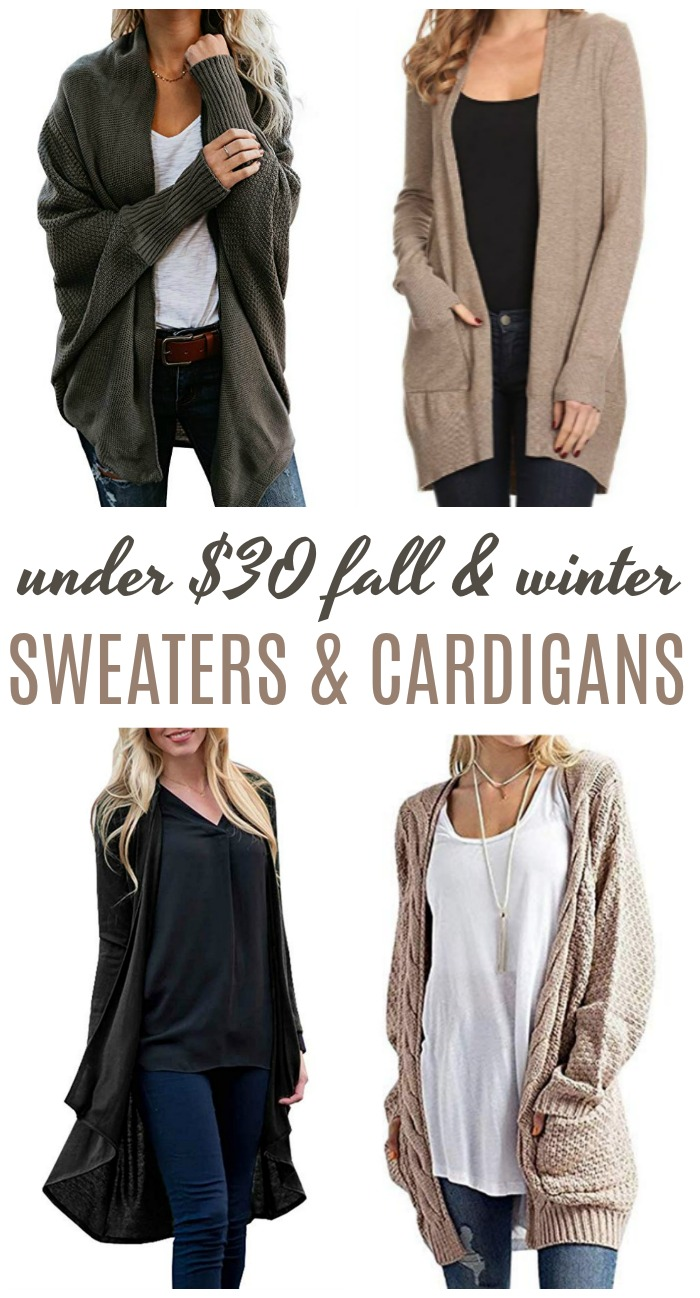 Cheap Oversized Cardigans! The Best Cardigans for Fall and Winter! Cheap, Easy and Everyday Styles for Women! Fashion Tips and Tricks for Oversized, Chunky, and Cardigan Outfits!