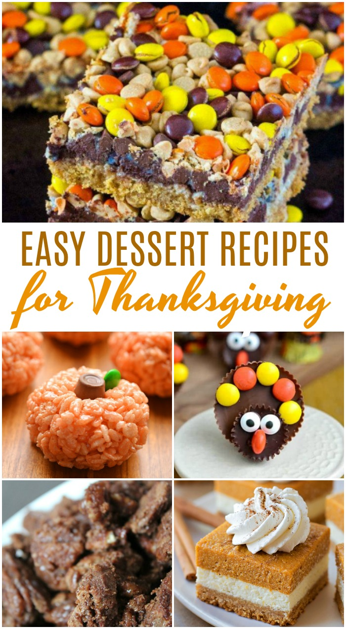 Easy Dessert Recipes for a Crowd for Thanksgiving! Amazing Thanksgiving Dessert Recipes! Easy Holiday Treats and Desserts for a Crowd including Cute Ideas with Pumpkin, Pies, Chocolate, and Cheesecake!