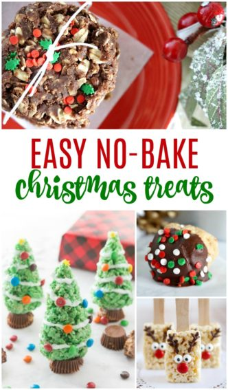 Easy No Bake Christmas Treats and Gift Ideas! Cheap Gift Ideas for Friends, Neighbors, Co-workers, or Holiday Parties. No Bake Cookies, Desserts, and Candies for a crowd!