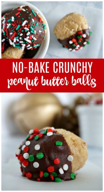 Easy No Bake Christmas Peanut Butter Balls Recipe! The BEST Holiday Treat or Dessert Recipe for Parties or Easy Gift Ideas for Friends, Co-workers, or Neighbors!