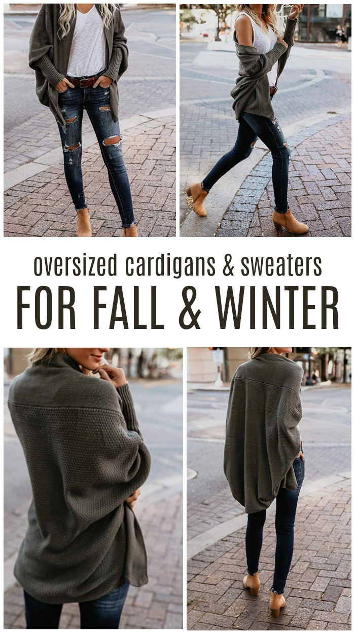 Oversized Cardigans and Sweaters for Fall and Winter! Cheap, Easy and Everyday Styles for Women! Oversized & Chunky Sweater Fashion Outfit Tips and Tricks!