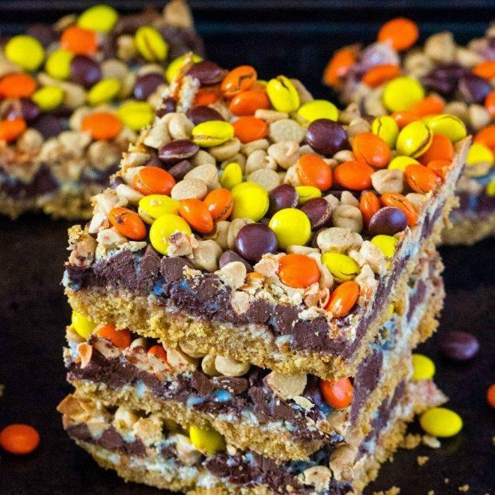 Reeses Magic Cookie Bars