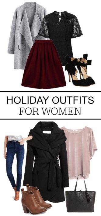 Amazing Holiday Outfits for Women! Christmas Parties or New Years Eve Fashion Trends - Skirts, Dresses, Blouses, Shoes, Coats & Accessories!