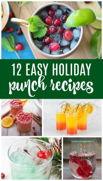 Easy Holiday Punch Recipes for Christmas and New Years! Here are some of my favorite kid-friendly, non-alcoholic Drink Recipes for Holiday Parties!