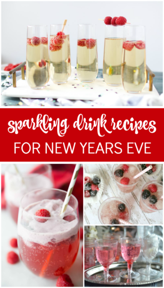 Easy Sparkling Drink Recipes for New Years Eve! Kid-Friendly and Non-Alcoholic New Years Eve Party Punch Recipes! Also great for Christmas or Holidays!