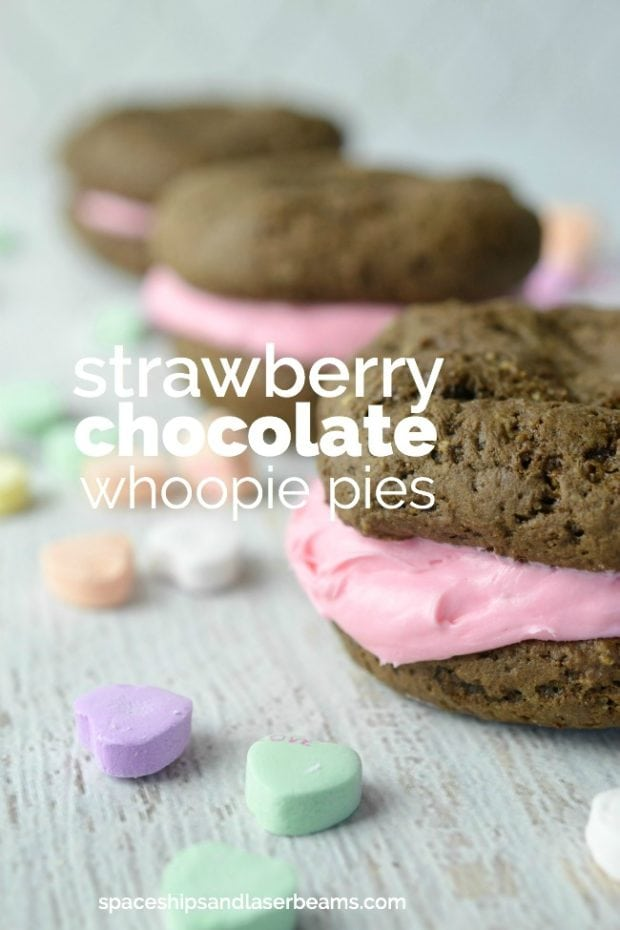 Strawberry Chocolate Whoopie Pies