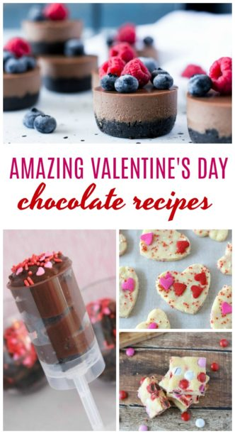 Easy Valentine's Day Chocolate Recipes! Amazing Valentine's Day Chocolate Recipes! Homemade Easy and Simple Fudge, Candy, Cheesecake, Cupcakes, Desserts, and Treats to Celebrate Valentines!