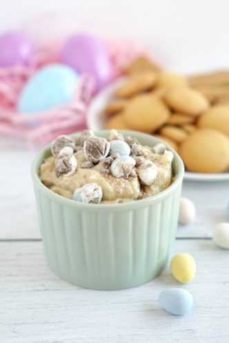 Cadbury Easter Dip! Easy No-Bake Cookie Dip Recipe for an easy dessert or party snack recipe!