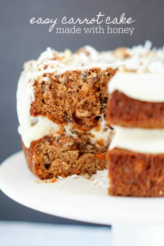 Easy Carrot Cake Made with Honey